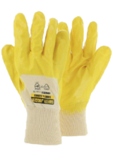 Concrete yellow nitrile coating Brand - Safety Jogger