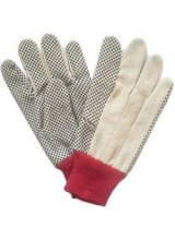 PVC  Single Sided Dotted Gloves